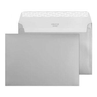 Wallet Peel and Seal Metallic Silver C5 162x229 130gsm Envelopes