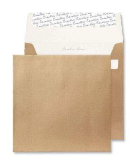Square Wallet Peel and Seal Metallic Gold 220x220 130gsm Envelopes