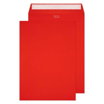 Pocket Peel and Seal Pillar Box Red C4 324x229 120gsm Envelopes