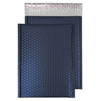 Metallic Bubble Padded Pocket Peel and Seal Oxford Blue BX100 320x240