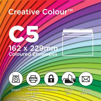 C5 Wallet Peel and Seal 162x229mm 120gsm Envelopes