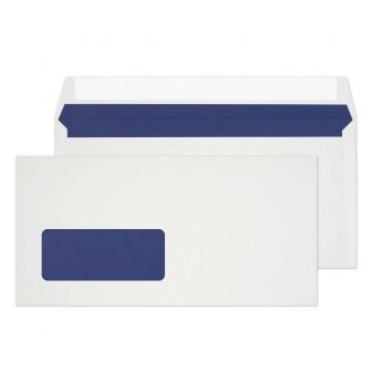 Wallet Peel and Seal Low Window White DL 110x220 110gsm Envelopes