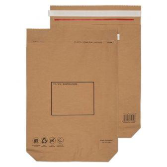 Kraft Mailing Bag Peel and Seal Natural Brown 530x480x80 110gsm
