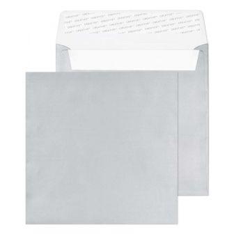 Square Wallet Peel and Seal Metallic Silver 160x160 130gsm Envelopes