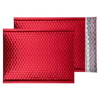 Padded Bubble Pocket Peel and Seal Festive Red C4 320x240