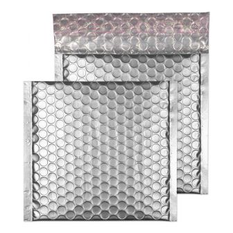 Padded Bubble Wallet Peel and Seal Metallic SIlver CD 165x165