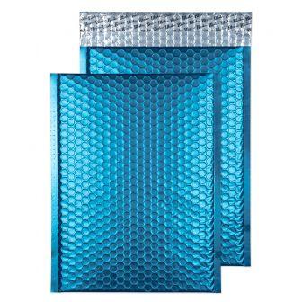 Metallic Bubble Padded Wlt P/S Matt Caribbean Blue BX100 320x240