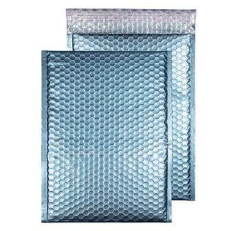 Metallic Bubble Padded Pkt P/S Matt Cotton Blue  BX100 320x240