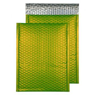 Metallic Bubble Padded Pkt P/S Matt Lime Green BX100 320x240