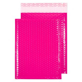 Neon Gloss Padded Pocket Peel and Seal Pink BX100 340x240