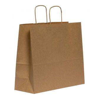 Twist Handled Brown Kraft Paper Carrier Bag 310X170X340mm 100gsm