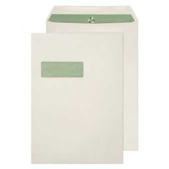 Pocket Self Seal Window Natural White C4 324x229 90gsm Envelopes