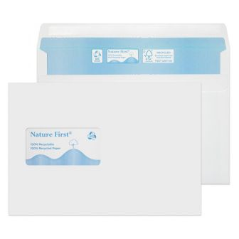 Nature First Wallet Self Seal Window White C5 162x229 90gsm Envelopes