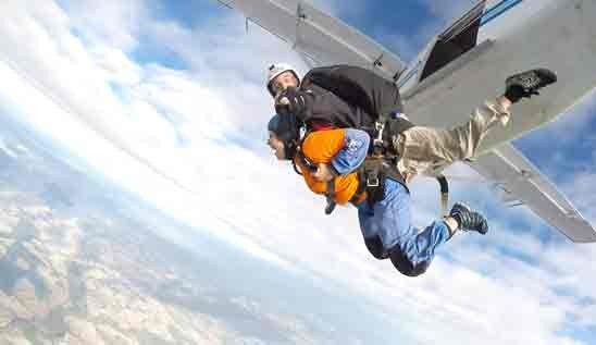 Blake Staff Skydive for Charity