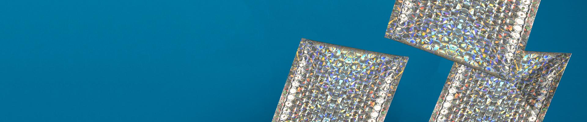 Creative Shine Holographic Padded Bubble Envelopes