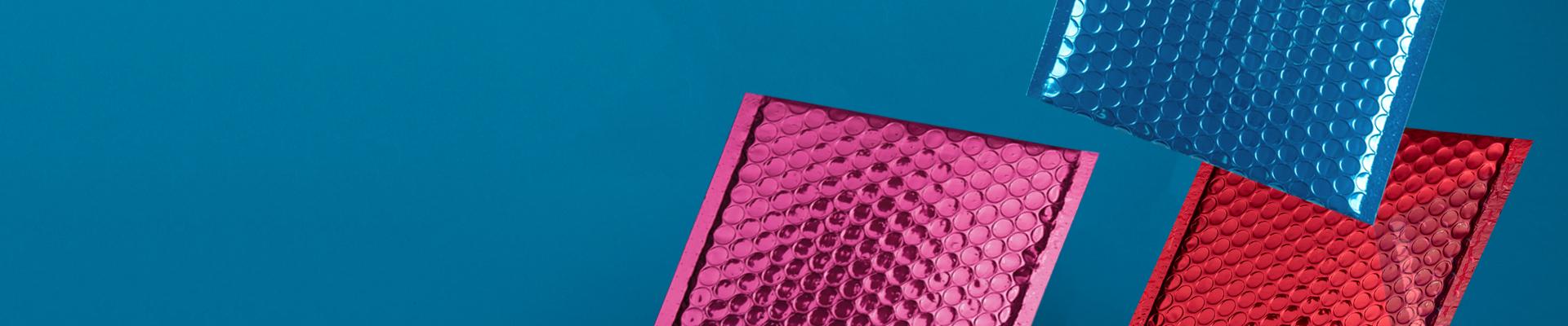 Creative Shine Metallic Gloss Padded Bubble Envelopes