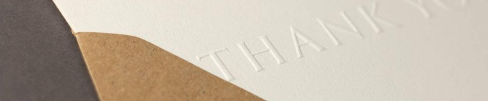 Personalisation - Process - Embossing