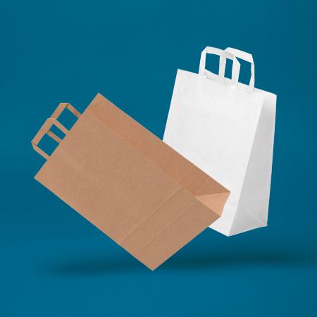VITA™ Flat Handle Paper Carrier Bags