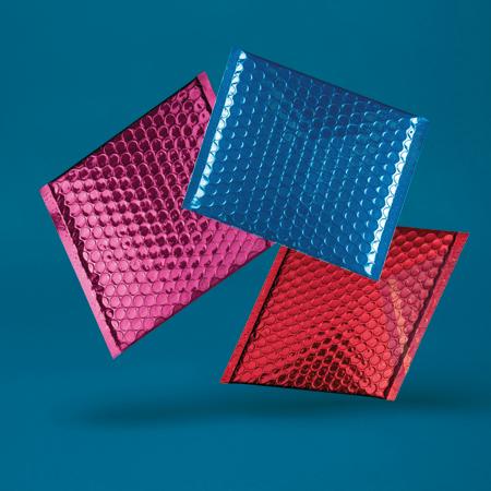 Metallic Gloss Padded Bubble Envelopes