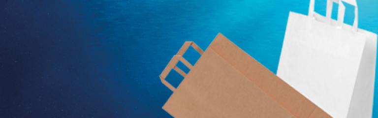 VITA Flat Handle Paper Carrier Bags