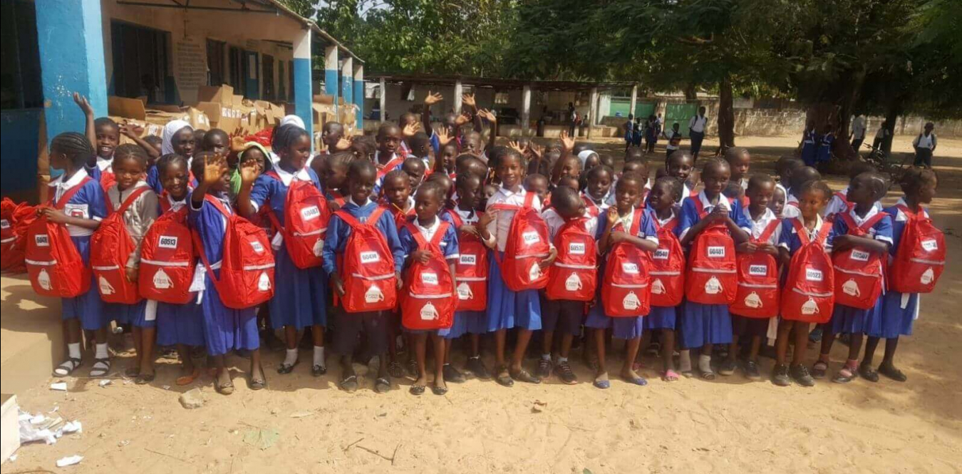 Distributing 600 SchoolBags in The Gambia