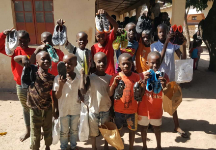 Distributing 622 Pairs of Shoes in The Gambia