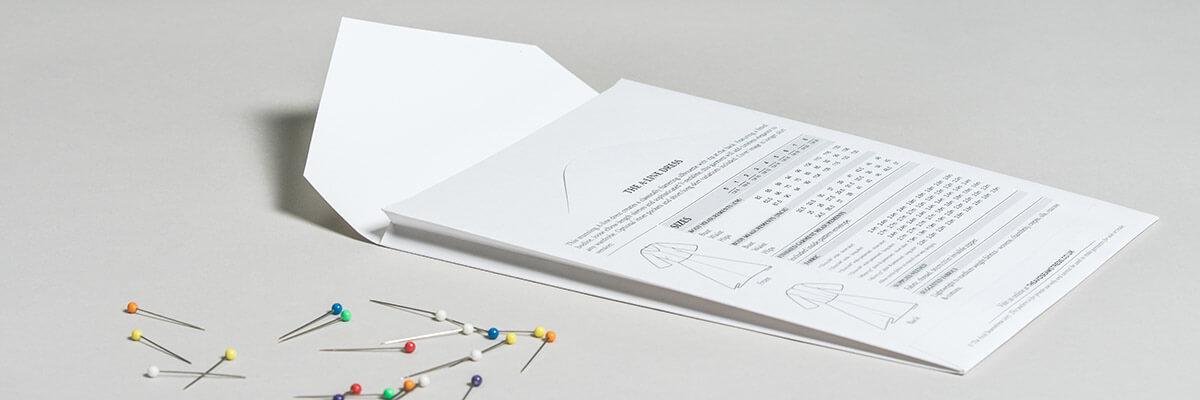 The Avid Seamstress sewing pattern envelopes