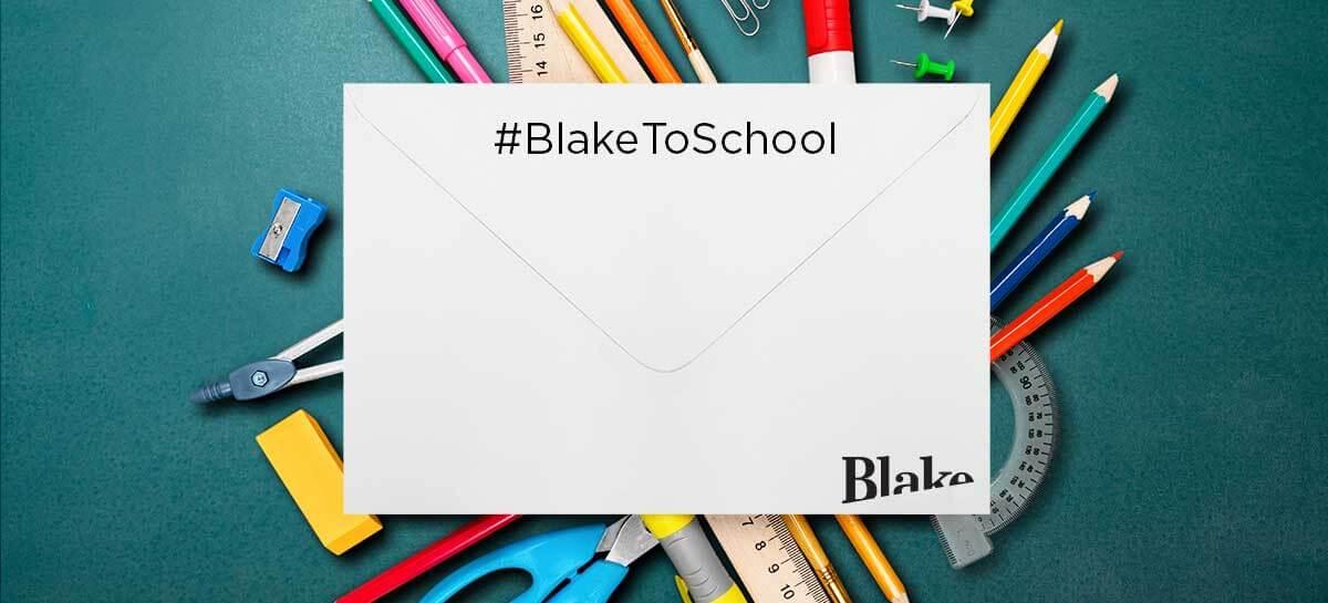 Blake to school