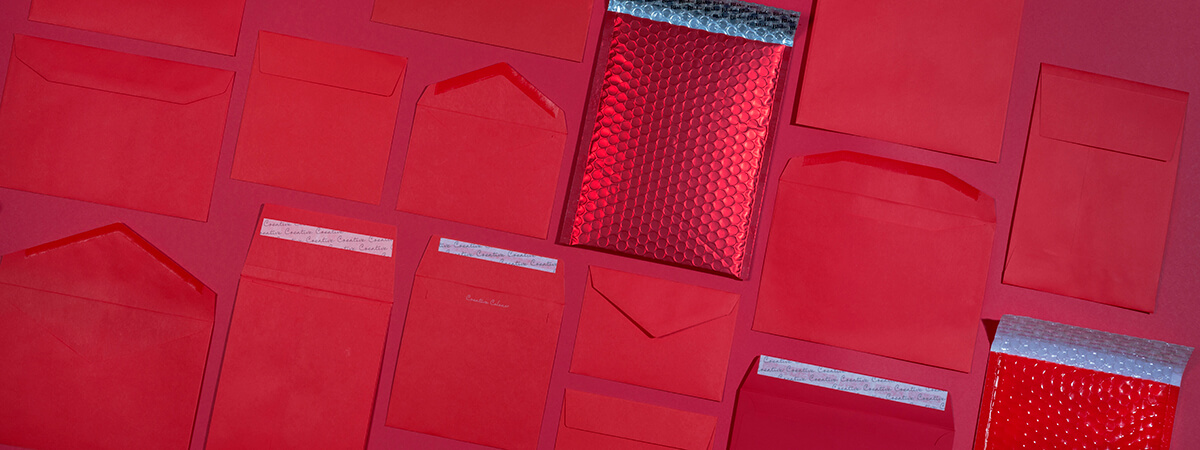 Red Valentine envelopes