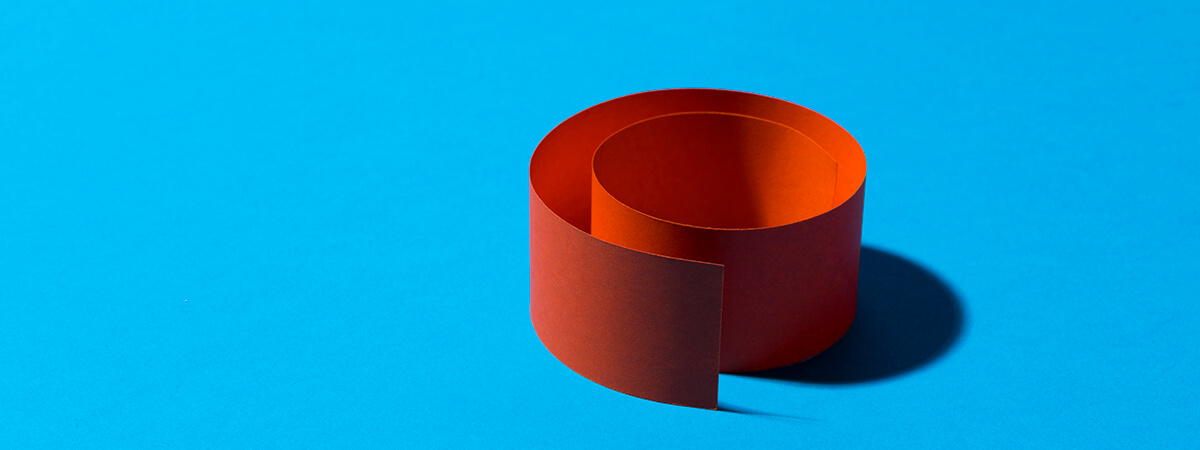 coloured paper coil