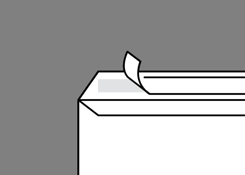 Peel & Seal envelope diagram