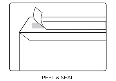 Peel & Seal envelope diagram