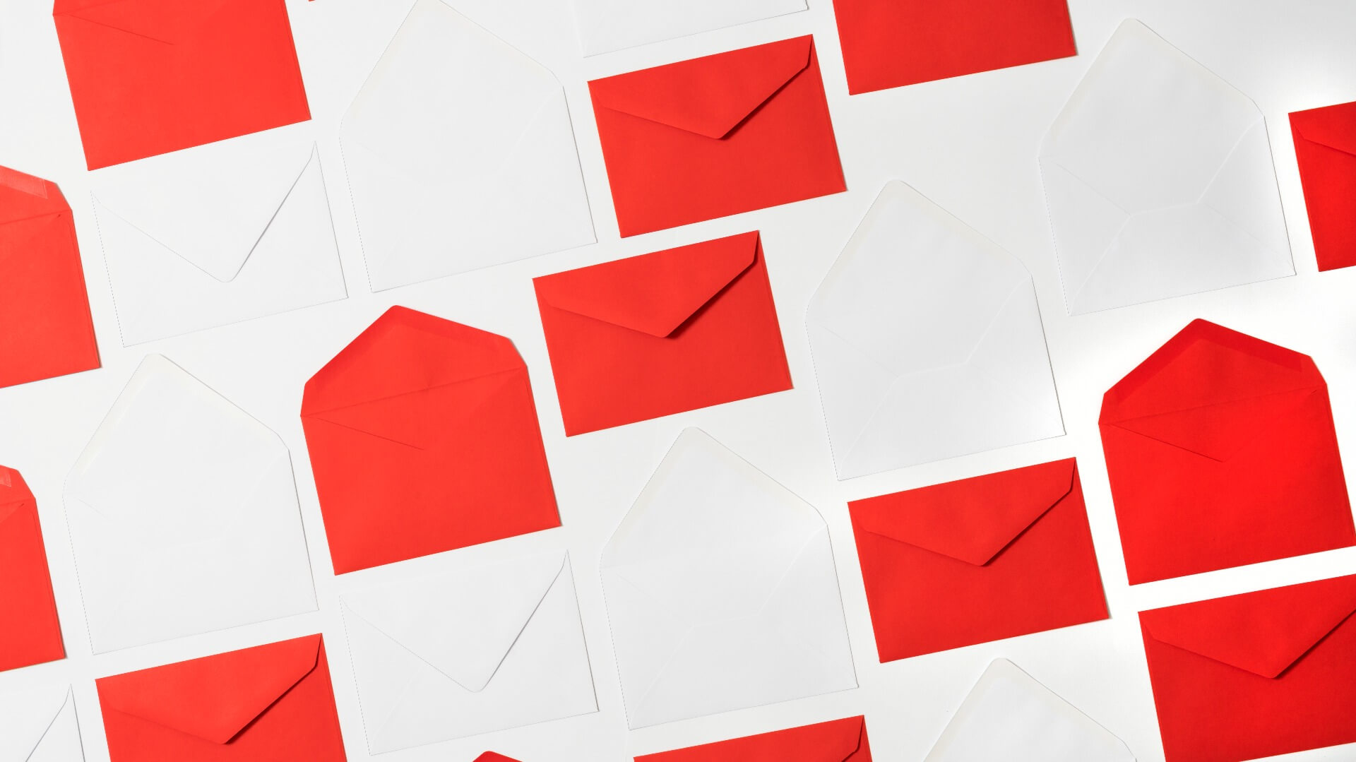 red and white envelopes