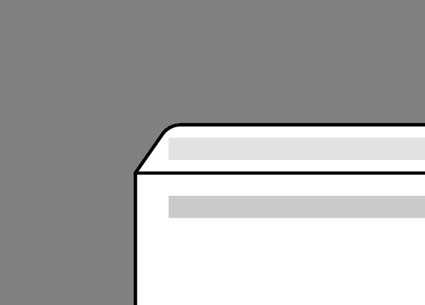 Self Seal envelope diagram