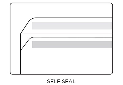 Self Seal envelope diagram