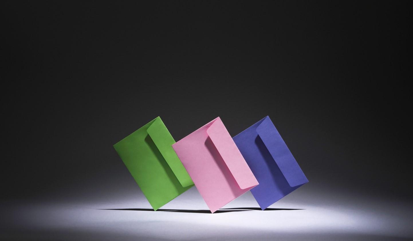 Spring coloured envelopes