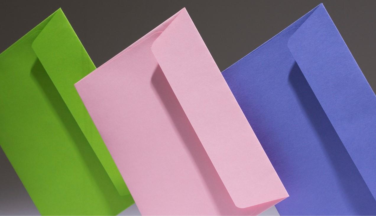 spring coloured envelope
