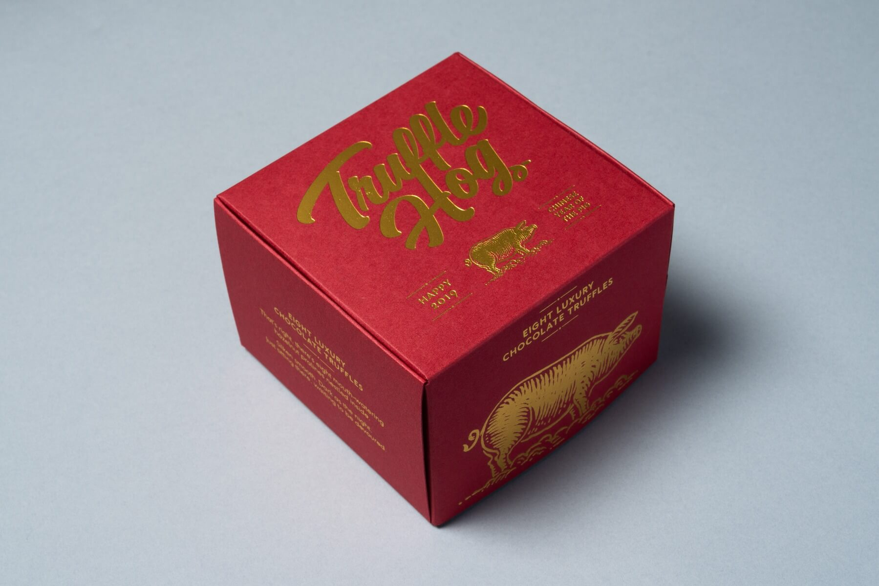 red and gold box