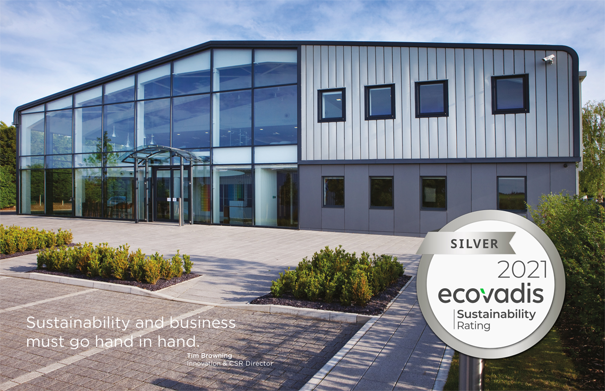 Blake building with Silver award