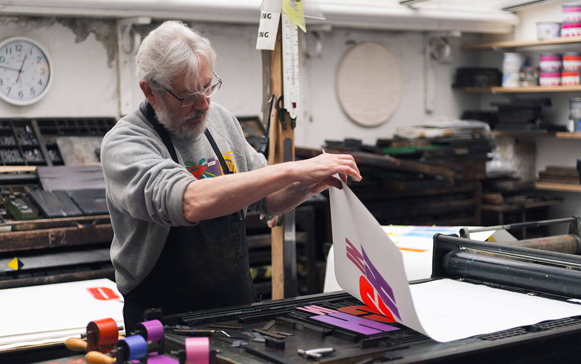 Alan Kitching print making