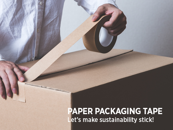 Sustainable packaging tape
