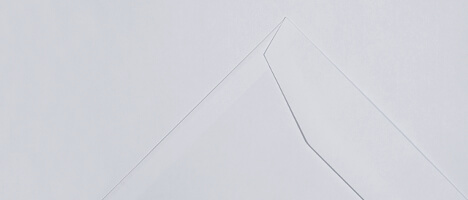 White mailing wallet envelopes