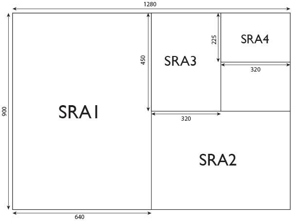 sra4 225 x 320mm