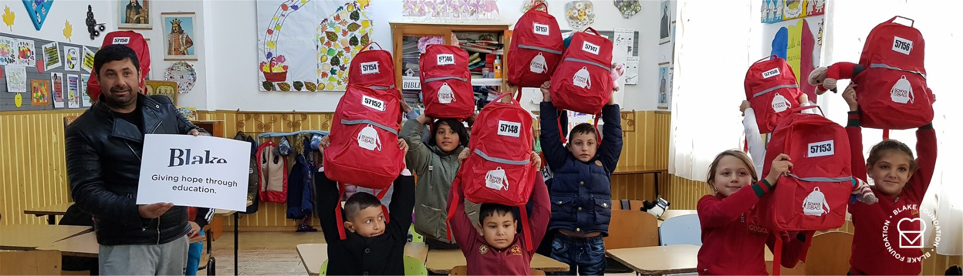 children with their schoolbags